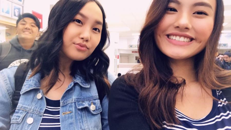 Melanie Vang and Amy Xong