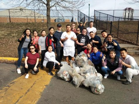 Clean up at North with AFJROTC and Optimist club